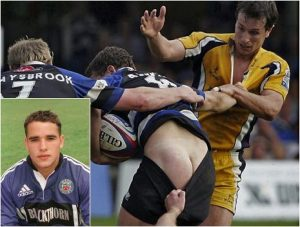 Naked Rugby Player Olly Barkley