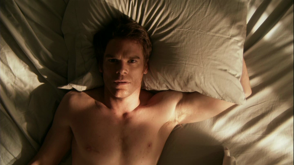 Michael C. Hall Shirtless In Bed