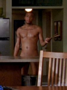 Shirtless Antwon Tanner from One Tree Hill