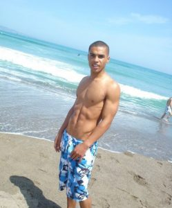Shirtless Lucien Laviscount from Big Brother