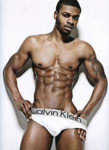 Shirtless Black Male Model Mark Shavers