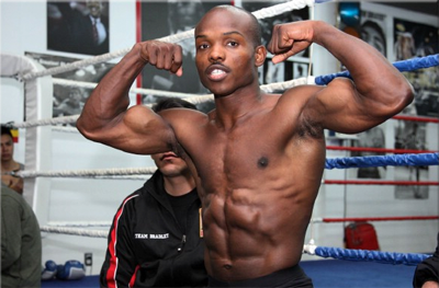 Junior Welterweight Champion Kendall Holt, Shirtless
