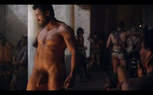 James Wells Full Frontal on Spartacus